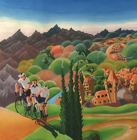 The Cyclists And The Hill by Alister Colley