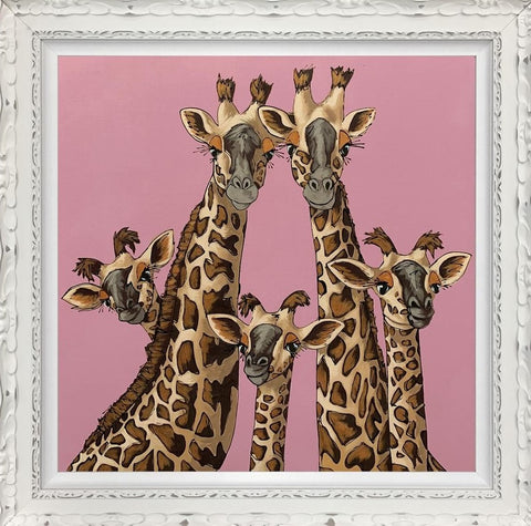 High Five (Rangwali Pink) by Amy Louise *NEW-Limited Edition Print-Amy Louise-artist-The Acorn Gallery
