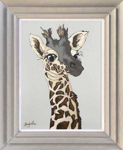 Little Giraffe Original by Amy Louise *SOLD*-Original Art-Amy Louise-artist-The Acorn Gallery