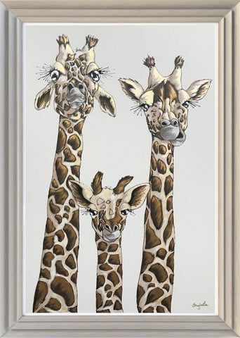 Our Family - Giraffe Original by Amy Louise *SOLD*-Original Art-Amy Louise-artist-The Acorn Gallery