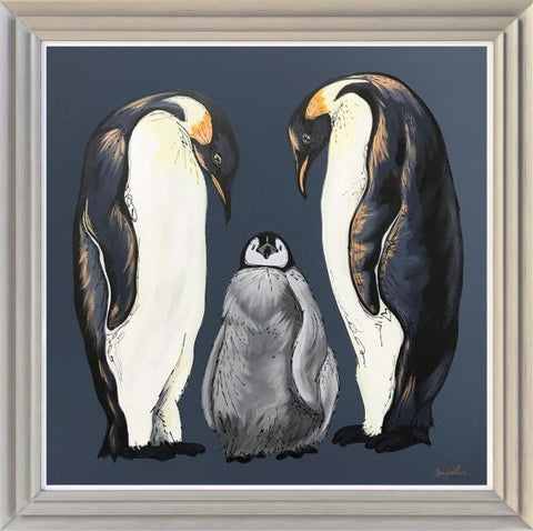 The Pitter Patter Of Tiny Toes - Penguin Original by Amy Louise-Original Art-Amy Louise-artist-The Acorn Gallery