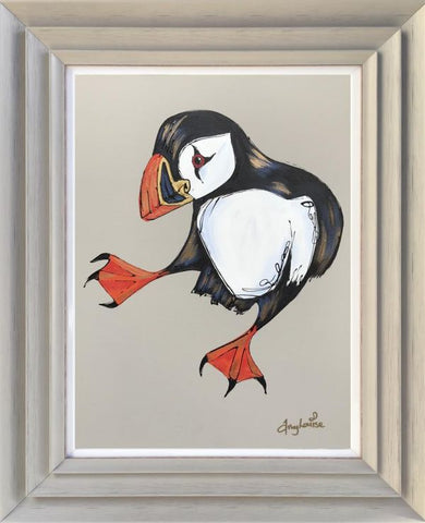 Twinkle Toes (Puffin) Original by Amy Louise *SOLD*-Original Art-Amy Louise-artist-The Acorn Gallery