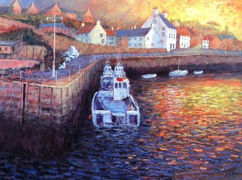 A New Day Dawns (Crail Harbour) by Alexander Millar