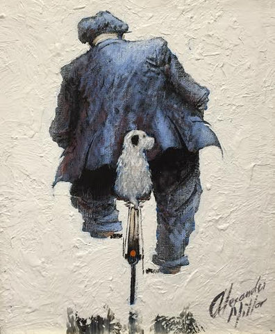 Gadging A Lift Original by Alexander Millar *SOLD*