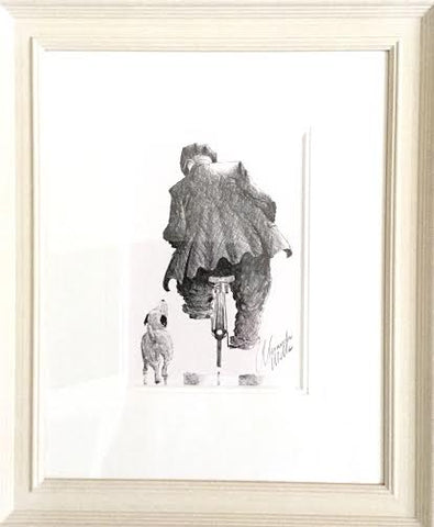 Home Time Boy Original Sketch by Alexander Millar *SOLD*