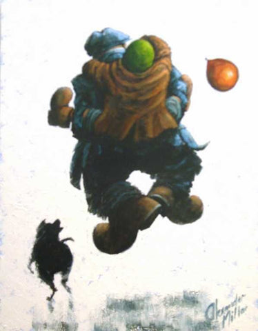 Over The Moon Original by Alexander Millar *SOLD*