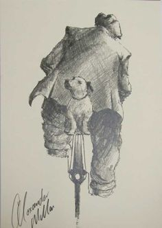Watching Your Back Original Sketch by Alexander Millar *SOLD*