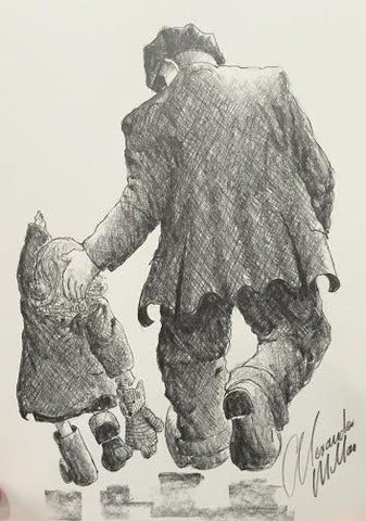 Willow And Popsie Original Sketch by Alexander Millar *SOLD*