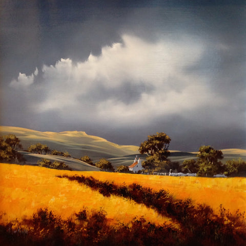 Fields Of Gold X Original by Allan Morgan *SOLD*-Original Art-Allan-Morgan-landscape-artist-The Acorn Gallery