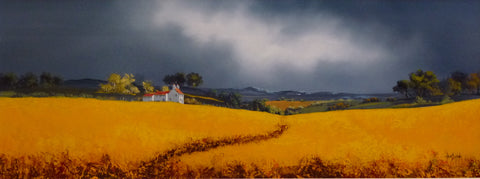 Fields Of Gold IV Original by Allan Morgan *SOLD*-Original Art-Allan-Morgan-landscape-artist-The Acorn Gallery