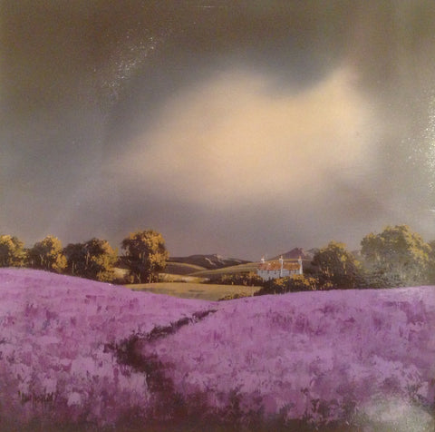 Lavender Fields Original by Allan Morgan *SOLD*-Original Art-Allan-Morgan-landscape-artist-The Acorn Gallery