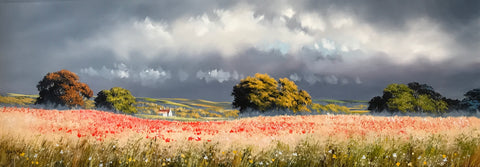 Wolds Poppies Original By Allan Morgan *NEW*