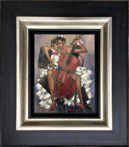 Cello Lessons Original by Andrei Protsouk-Original Art-Andrei-Protsouk-artist-The Acorn Gallery