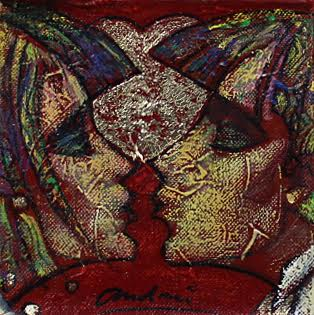Kisses Original by Andrei Protsouk *SOLD*-Original Art-Andrei-Protsouk-artist-The Acorn Gallery