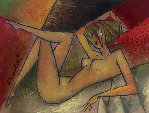 Nude On Black Original by Andrei Protsouk *SOLD*