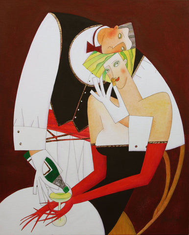 Sweet Corkage Original by Andrei Protsouk *SOLD*