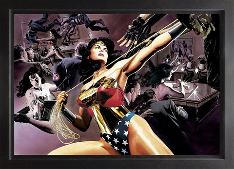 Wonder Woman Defender Of Truth Canvas Deluxe by Alex Ross *NEW*
