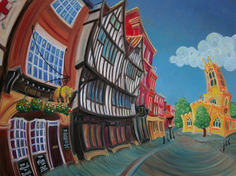 All Saints Pavement by Rayford-Limited Edition Print-The Acorn Gallery-Rayford-artist-The Acorn Gallery