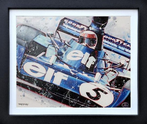 Jackie Stewart 1973 Win Original by Ben Jeffery *SOLD*