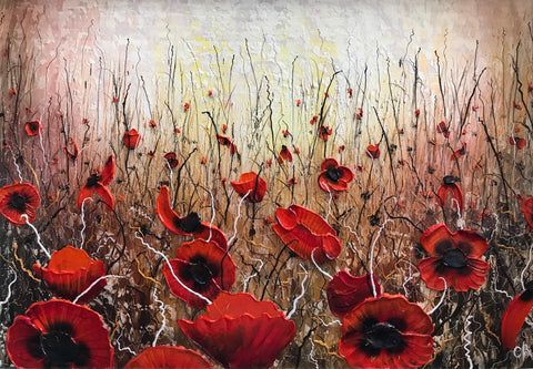 Poppy Field Original by Robert Cox *SOLD*
