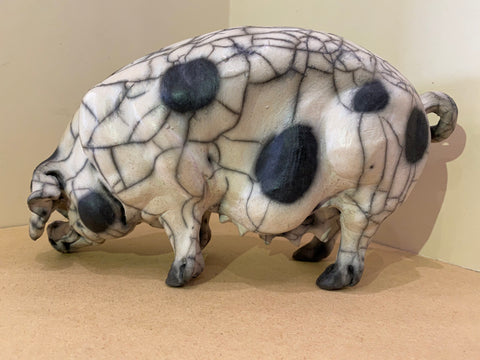 Penelope Ceramic Gloucester Old Spot Pig Original by Christine Cummings *NEW*