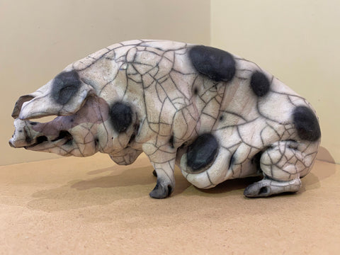 Rose Ceramic Gloucester Old Spot Pig Original by Christine Cummings *NEW*