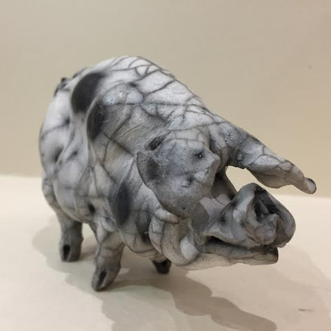 Agatha Ceramic Gloucester Old Spot Pig Original by Christine Cummings *SOLD*