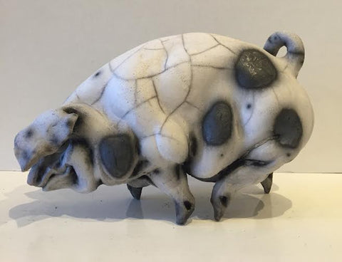 Alice Ceramic Gloucester Old Spot Pig Original by Christine Cummings *SOLD*