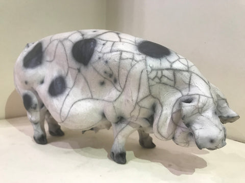 Bridget Ceramic Gloucester Old Spot Pig by Christine Cummings *SOLD*
