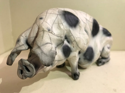 Hayley Ceramic Gloucester Old Spot Pig by Christine Cummings *SOLD*