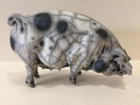 Ivy Ceramic Gloucester Old Spot Pig Original by Christine Cummings *SOLD*