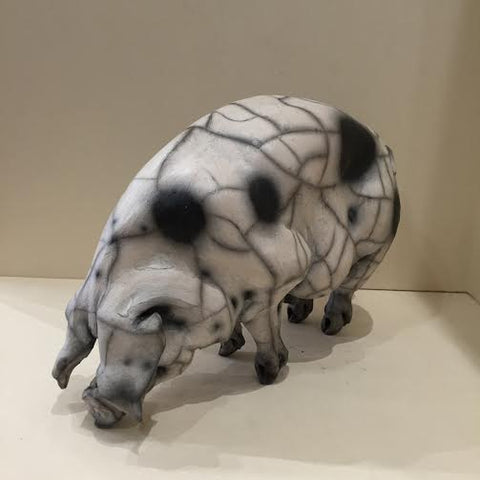 Lily Ceramic Gloucester Old Spot Pig Original by Christine Cummings *SOLD*