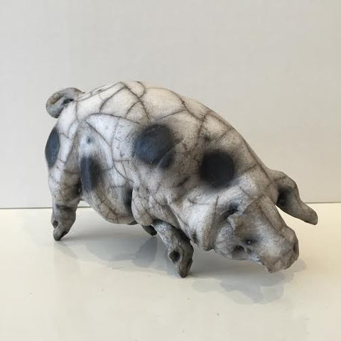 Lula Ceramic Gloucester Old Spot Pig Original by Christine Cummings *SOLD*