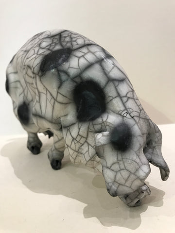 Margo Ceramic Gloucester Old Spot Pig by Christine Cummings *SOLD*