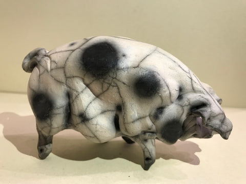 Penny Ceramic Gloucester Old Spot Pig by Christine Cummings *SOLD*