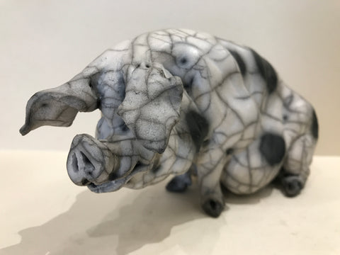 Philippa Ceramic Gloucester Old Spot Pig by Christine Cummings *SOLD*
