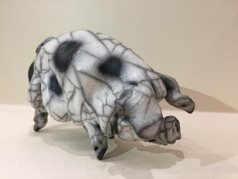 Sadie Ceramic Gloucester Old Spot Pig Original by Christine Cummings *SOLD*