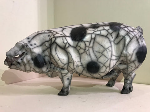 Scarlett Ceramic Gloucester Old Spot Pig by Christine Cummings *NEW*