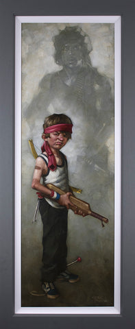 Don't Push It (Rambo) Canvas by Craig Davison