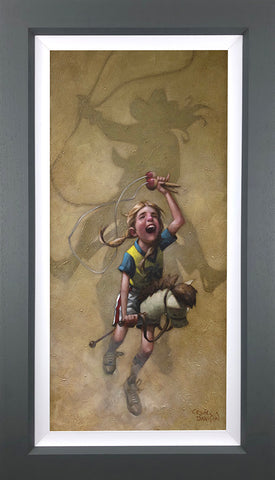 Just Rope, Throw And Brand 'Em Canvas by Craig Davison