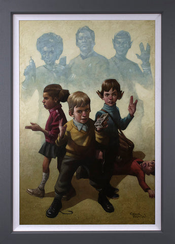 Phasers To Stun Canvas by Craig Davison