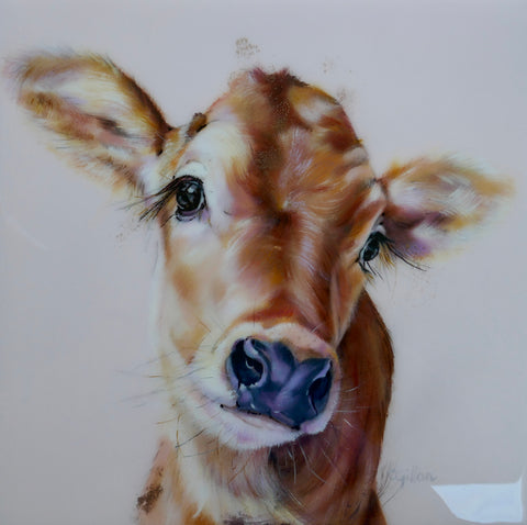 Dolly Original by Carol Gillan *NEW*-Original Art-The Acorn Gallery-Carol-Gillan-bovine-artist-cows-artwork-The Acorn Gallery