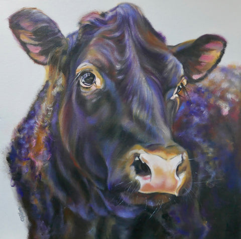 Joseph Original by Carol Gillan *NEW*-Original Art-The Acorn Gallery-Carol-Gillan-bovine-artist-cows-artwork-The Acorn Gallery