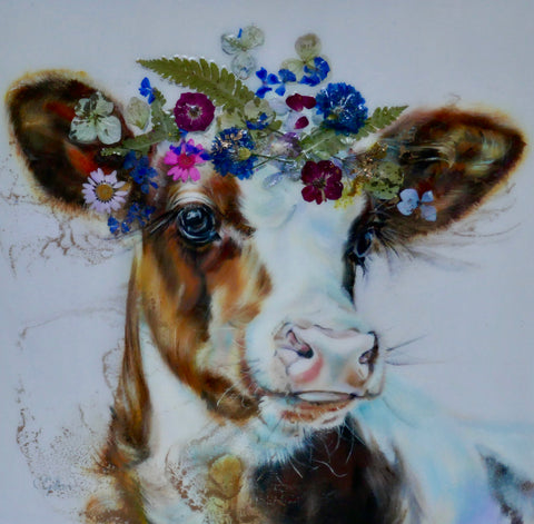 Tatiana Original by Carol Gillan *NEW*-Original Art-The Acorn Gallery-Carol-Gillan-bovine-artist-cows-artwork-The Acorn Gallery