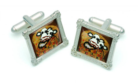 The Smooch Cufflinks by Caroline Shotton