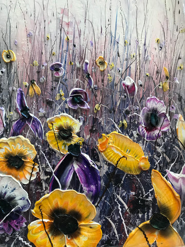 Purple And Gold Original by Robert Cox *SOLD*