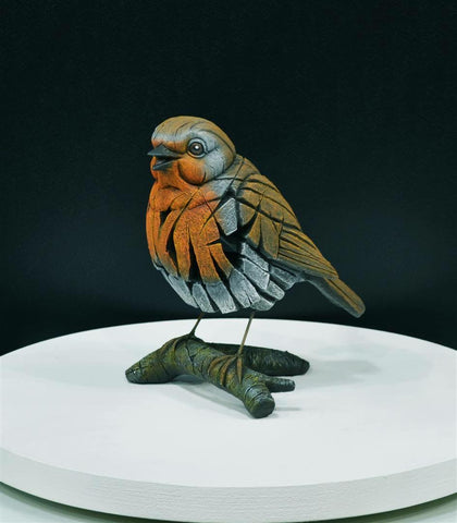Robin Red Breast by Edge Sculpture-Sculpture-EDGE-Sculpture-Matt-Buckley-artist-The Acorn Gallery