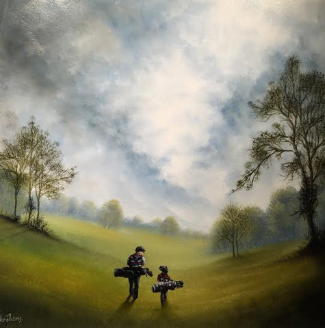 A Long Walk Up The 18th Original by Danny Abrahams *SOLD*