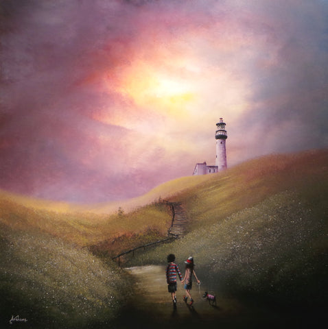 A Summers Evening Stroll (Flamborough Head) Original by Danny Abrahams *SOLD*