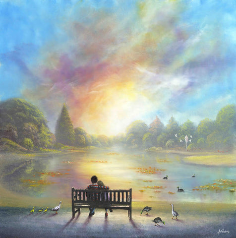 Burnby Hall Gardens Print - A Favourite Place To Daydream by Danny Abrahams